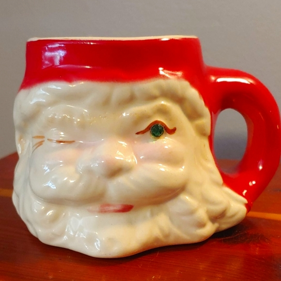 Vintage winking Santa Hobbyist Mug
